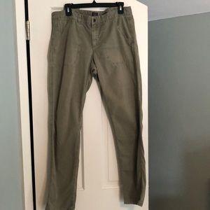 J.Crew city fit army green pants